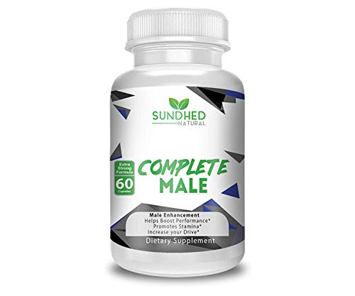 Sundhed Natural Complete Male (120 Veggie Caps) - All Natural Male Enhancement & Libido Supplement - Mens Vitality Boost Performance Promote Stamina & Increase Your Drive - 60 Day Supply by Sundhed Natural