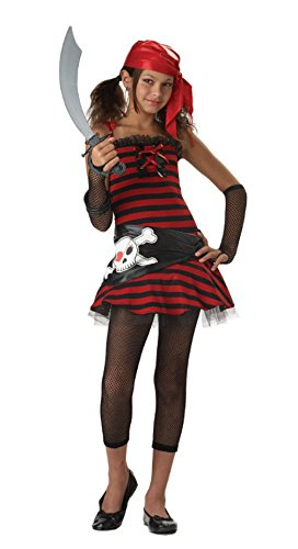 Caribbean Treasure Pirate Cutie Tween X-Large Halloween Costume
