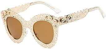 Cat-eye sunglasses retro decorative sunglasses hollowed-out large frame sunglasses fashion trendy glasses