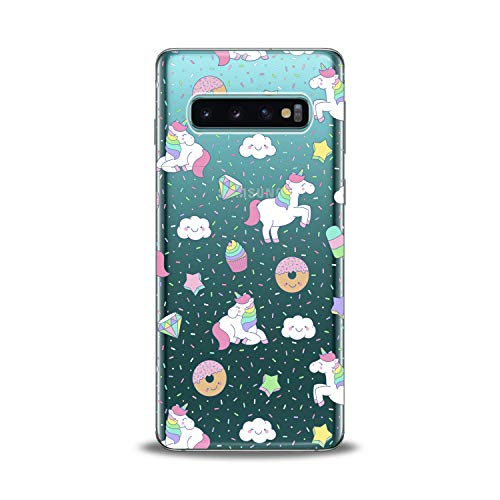 Lex Altern TPU Case for Samsung Galaxy s10 5G Plus 10e Note 9 s9 s8 s7 White Unicorn Cute Pink Clear Donuts Cover Silicone Durable Print Protective Girl Design Transparent Women Teen Flexible Pattern]()