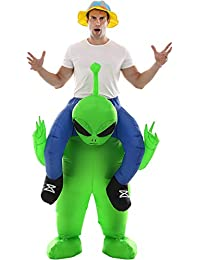 Inflatable Alien Costume Fancy Halloween Blow up Costumes for Adult Kids Cosplay