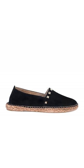 PERA LIMONERA Alpargatas Negras Tachuelas - Color - Negro, Talla Zapatos Mujer - 40: Amazon.es: Zapatos y complementos