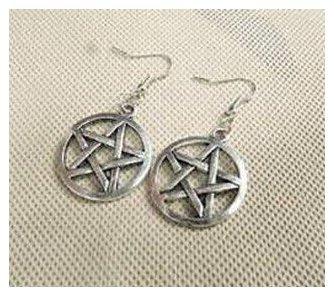 Supernatural Inspiron,pentagram Supernatural Pentacle Earrings Antique Steampunk Gift