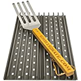 "Set of TWO 19.25"" GrillGrate Panels (interlocking) + GrateTool"