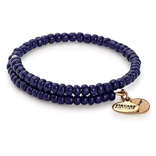 Alex and Ani Women's Primal Spirit Wrap Bracelet Abyss/Rafaelian Gold One Size -