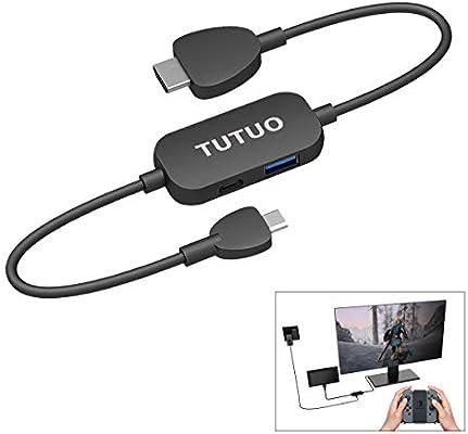 TUTUO Dock para Nintendo Switch, USB C a HDMI Adaptador con HDMI ...