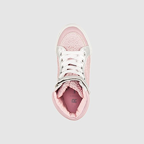 La Redoute R Kids Hohe Sneakers fur Madchen Weiss/Rosa/Silber