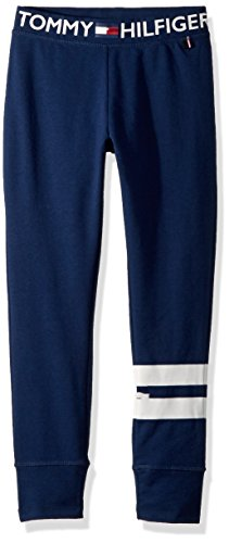 Tommy Hilfiger Big Girls' Fleece Pant, Twin Blue, Medium by Tommy Hilfiger