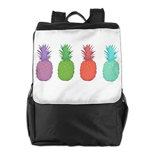 Rongyingst Pineapples Colors Messenger Bag Shoulder Backpack Travel Hiking Rucksack For Womens Mens Boys Girls School Bookbags One - Beach Reviews Sugar