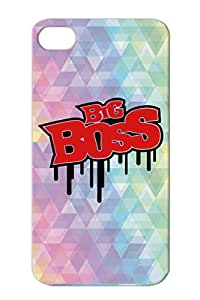 Big Boss Rk2 TPU Case For Iphone 4 Drop Resistant Office Humor Cool Funny Pimp Work Horny Funny Player Chef Job Red