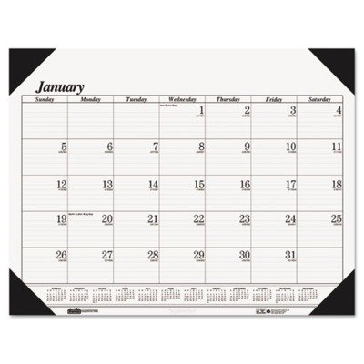 House of Doolittle Monthly Desk Pad Calendar Refill, Fits Deluxe Padded & 4-Corner Holders, 2013, January-December, 22