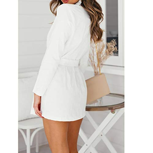 ADESHOP De Bouton Collier Manches Mode Pile Couleur Manteau Femmes Longues Pure TCqTrwP