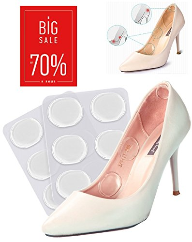 shoe insole gel spot Ball Of foot cushions Silicone Gel Heel Cushion Foot Care Shoe Inserts Pad Insoles (Pack of 6). LIMITED TIME SALE 70% OFF