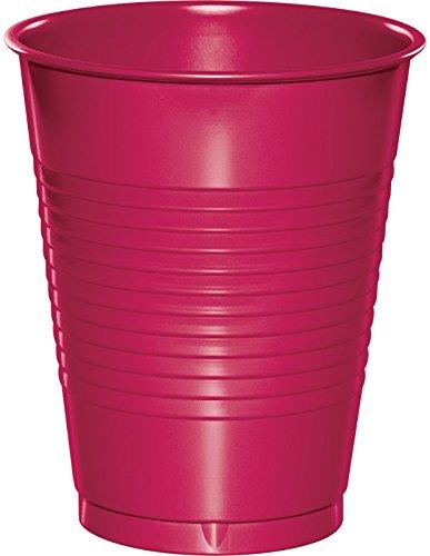 Creative Converting 28177081 PREMIUM PLASTIC CUPS 16 OZ, Hot Magenta