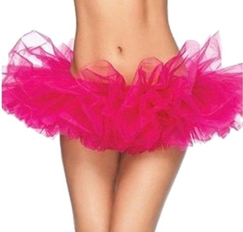 Codyna Women's Teen Adult Elastic Tutu Skirt [ 5 Layered ] Adult Dance Skirt Costume (Pink Ladies Dance Costume)