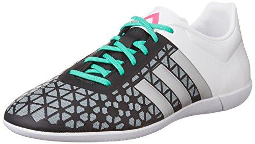 adidas Herren Ace 15.3 in Fußballschuhe Schwarz (Core Black/Matte Silver/Ftwr White)