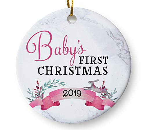 First Christmas Ornament 2019 Amazon.com: Baby's First Christmas Whimsical Ornament 2019, Girls