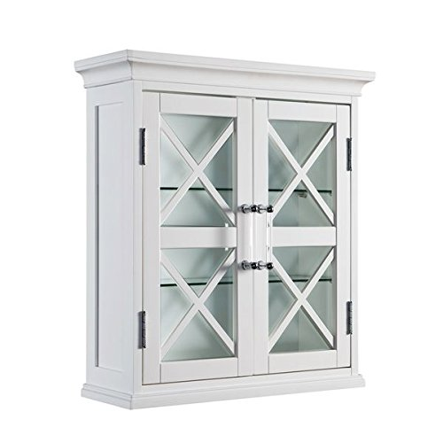 Elegant Home Fashions Grayson Wall Storage Cabinet with Two Doors