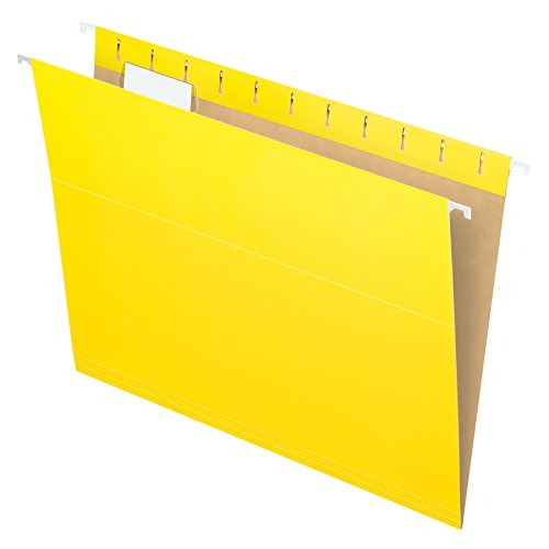 (Pendaflex 81606EE Recycled Hanging Folders, Letter Size, Yellow, 1/5 Cut, 25/BX (81606))