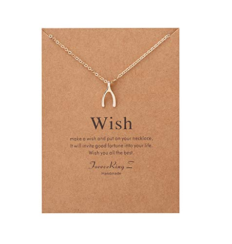 (ForeveRing Z Minimalist Necklace Wishbone Chain Necklace Woman Jewelry Infinity Necklace)