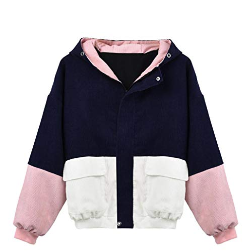 Amazon.com: New! Women Girls Winter Jacket,Fashion Patchwork Hooded Pockets Zipper Coat Plus Size Cardigan: Clothing