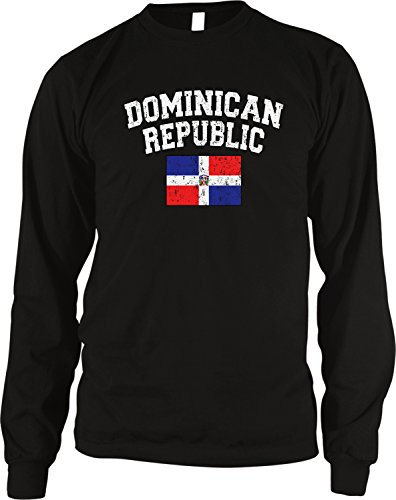 - Amdesco Flag of Dominican Republic Men's Long Sleeve Thermal Shirt, Black Medium
