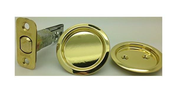 Weiser Lock 9R10300-001 Round Pocket Door Lock 2-1/8