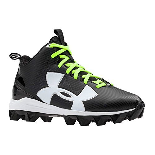 Armour Under Crusher - Under Armour Kids Boy's UA Crusher RM Jr. Football (Little Kid/Big Kid) Black/White Sneaker 4 Big Kid M