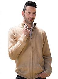 Beige Cardigan with Zipper (Medium)