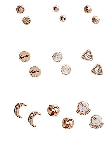 GUESS Factory Women's Gold-Tone Assorted Stud Earrings (Guess Set Earrings)