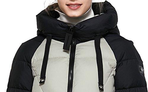 Donne Addensare Inverno Antivento Cappotto Sottile Mid Donna Giacca length Bianco Abbigliamento Piumino Icebear Invernali 8PYaqwxap
