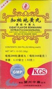 Huit saveur Rehmanni Extrait (Zhi Bai Di Huang Wan) A009