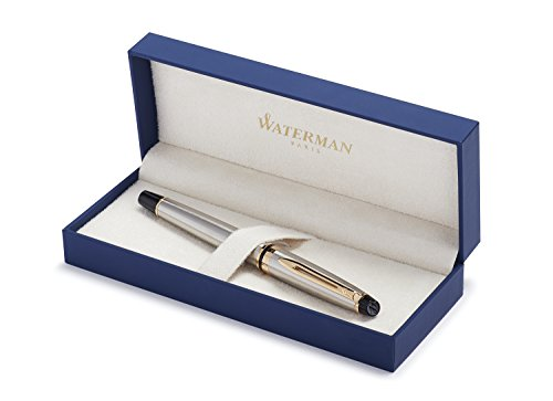 (Waterman Expert Deluxe Rollerball Pen with Fine Black refill)