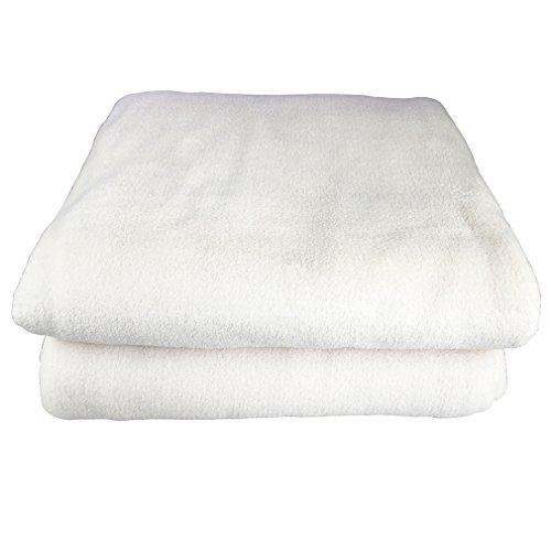 Auralum® Weiche Kuscheldecke Mikrofaserdecke Tagesdecke Wohndecke Fleecedecke Decke,150x 210cm,Weiß