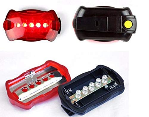 New!DEESEE(TM)Bicycle Bike Cycling 5 Led Tail Rear Safety Flash Light Lamp Red with Mount
