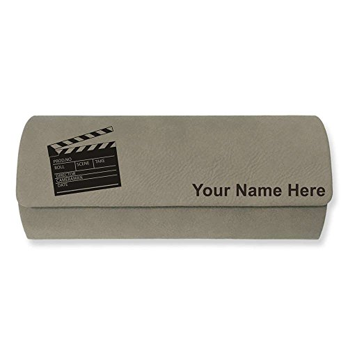 Eyeglass Case - Movie Clapperboard - Personalized Engraving Included (Light - Clapper Sunglasses