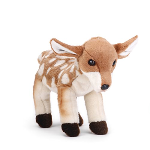 Nat and Jules Wobbly Small Fawn Spotted Tan Children's Plush Stuffed Animal