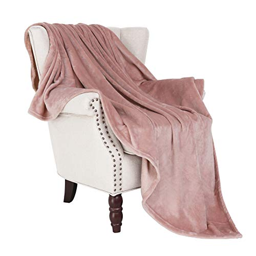 "Exclusivo Mezcla Luxury Flannel Velvet Plush Throw Blanket - 50"" x 60"" (Pink)"