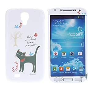 Cat and Bird Pattern Protective Hard Front and Back Case for Samsung Galaxy S4 I9500