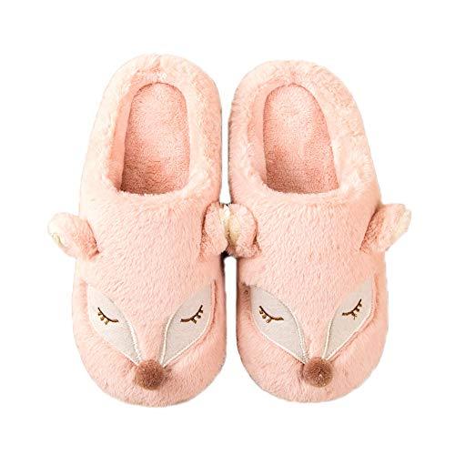 Winter Cute Fleece Warm Pattern Pink JadeRich Slippers Fox House XpqxwX1f