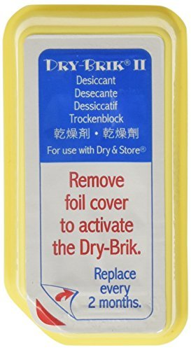 (Dry-Brik® II Desiccant Blocks - 6 Blocks (2 Packs of 3 Blocks)| Replacement Moisture Absorbing Block for the Global II and Zephyr by Dry & Store | Hearing Device Dehumidifiers )