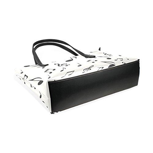 COOSUN Musical Notes Pattern PU Leder Schultertasche Handtasche und Handtaschen Tasche für Frauen