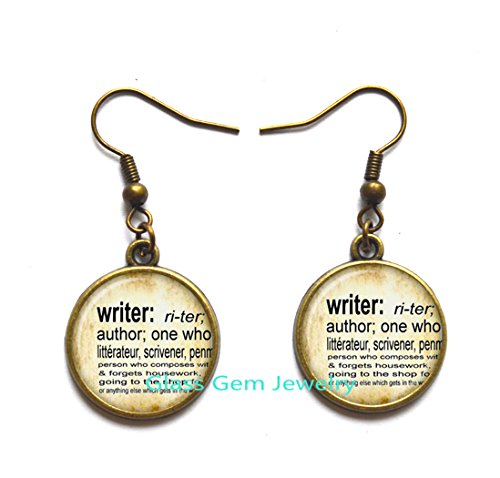Writer Earrings Charming dictionary definition of Writer word Stud Earrings word Writer jewelry,Q0135