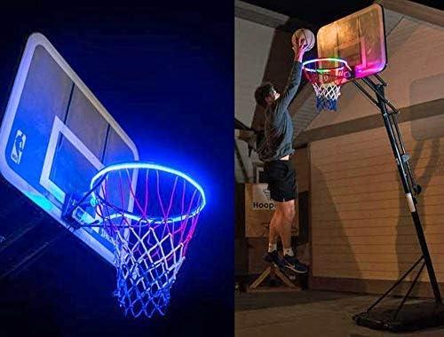 Fatalom Aro de Baloncesto con luz LED, Resistente al Agua ...
