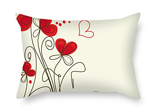 Flower Pillow Cases 12 X 20 Inches / 30 By 50 Cm Gift Or Decor For Living Room Bench Wife Boys Teens Home Theater - Two (Snuggle Leather Loveseat)