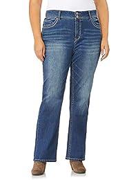 Women's Plus Size Luscious Curvy Stretch Bootcut Denim Jeans
