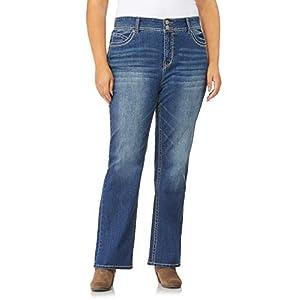 Women's Plus Size Curvy Stretch Bootcut Denim Jeans