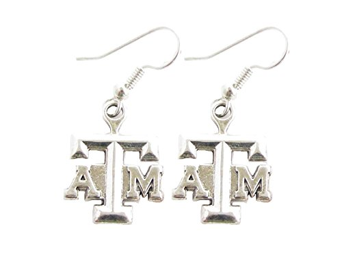 - Sports Accessory Store Texas A&M Aggies Silver French Hook Earrings Jewelry Officially Licensed