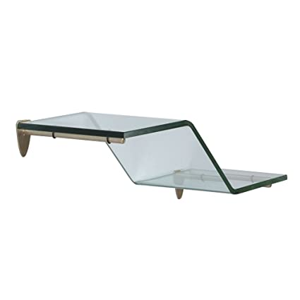 Amazon.com: Shelf-Made KT-0134-618ZSN Wave Glass Shelf Kit, Satin ...
