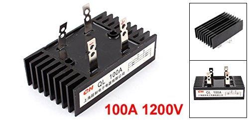eDealMax 100A Monophasé diode pont redresseur, QL100A1200V, 1200V